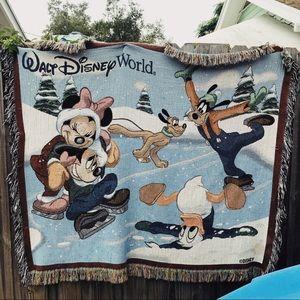 Disney Christmas Woven Tapestry Throw Blanket